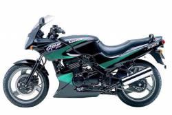 Kawasaki 500S 2000 black stickers set
