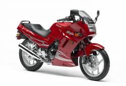 Kawasaki 250R 2007 Ninja red logo graphics