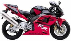 Honda CBR 954RR 2002 SC50 black complete decals kit