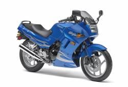 Kawasaki 250 R 2007 Ninja blue decals