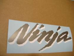 Kawasaki 250 R 2007 Ninja blue decals