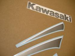 Kawasaki 250 R 2007 blue labels graphics