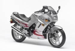 Kawasaki 250R 2007 Ninja silver decals kit