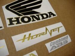 Honda CB600F 2012 Hornet black decals