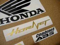 Honda CB 600F 2012 yellow labels graphics