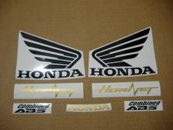 Honda 600F 2012 yellow complete sticker kit