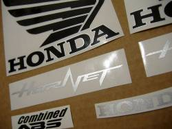 Honda 600F 2013 Hornet white stickers set