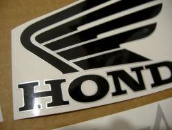 Honda CB600F 2013 Hornet white adhesives set