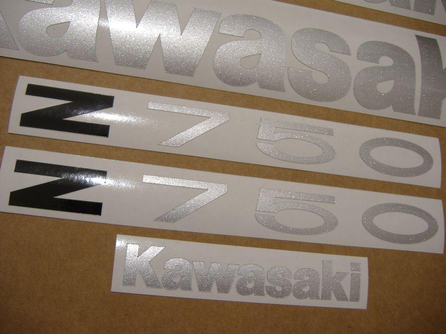 Kawasaki Z 750 2004 2005 2006 decals set (full kit) - red version - Moto-Sticker.com