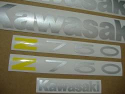 Kawasaki Z750 2005 blue stickers set