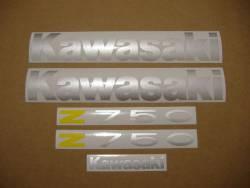 Kawasaki Z 750 2005 blue stickers