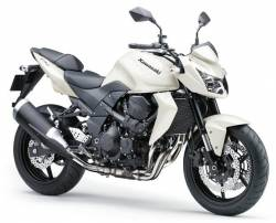 Kawasaki Z 750 2011 white labels graphics