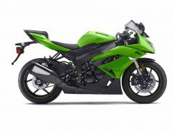 Kawasaki ZX-6R 2009 Ninja green stickers
