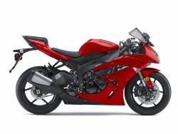 Kawasaki ZX-6R 2010 Ninja red decals