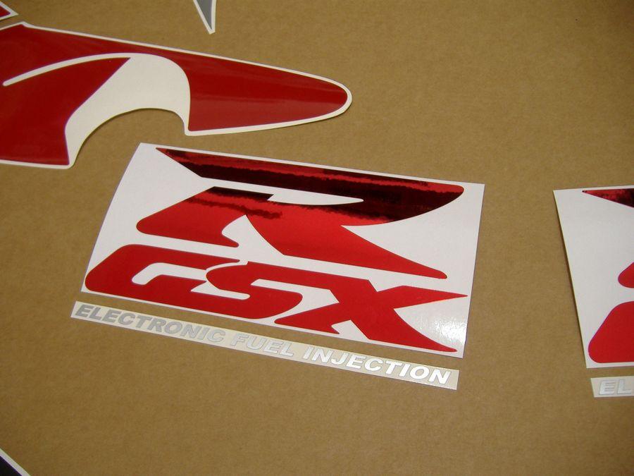 Suzuki Gsxr 750 >> Suzuki GSXR 750 srad 1998 decals set - red/silver/black version - Moto-Sticker.com