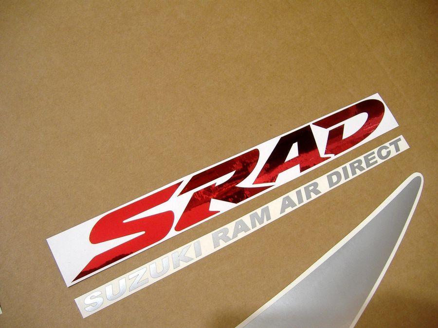 Suzuki GSXR 750 srad 1998 decals set - red/silver/black version - Moto-Sticker.com