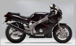 Yamaha FZR 600 1989 black stickers kit