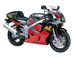 Suzuki 600 1997 red stickers kit