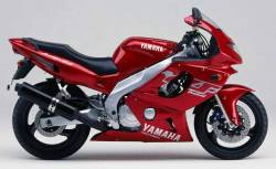 Yamaha YZF-600R 2000 red decals kit