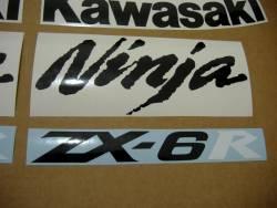 Kawasaki ZX 6R 2007 red full decals kit