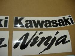 Kawasaki ZX6R 2007 Ninja red decals kit