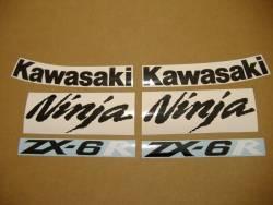 Kawasaki ZX-6R 2007 Ninja red logo graphics