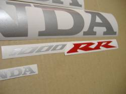 Honda 1000RR 2005 Fireblade black full decals kit