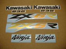 Kawasaki ZX-6R 2003 Ninja green decals