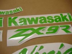 Kawasaki ZX 6R 2000 black stickers kit