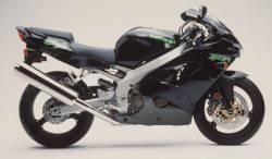 Kawasaki ZX 6R 2000 black full decals kit