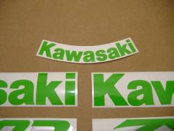 Kawasaki ZX6R 2000 black stickers set