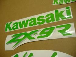 Kawasaki ZX6R 2000 black adhesives set