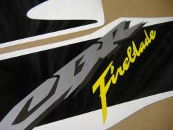 Honda CBR 1000RR 2006 Fireblade black stickers kit