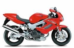 Honda Firestorm vtr 1000f 2000 2001 red decals kit set