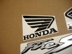 Honda VTR Firestorm 2000 red decals set