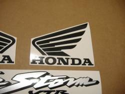 Honda vtr 1000F 2000 red full decals kit