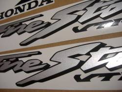 Honda VTR 1000F 2001 yellow labels graphics