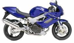 Honda vtr 1000F 2002 blue full decals kit