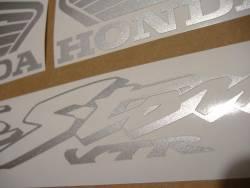 Honda VTR 1000F 2004 blue adhesives set