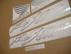 Honda vtr 1000F 2004 Firestorm blue stickers set