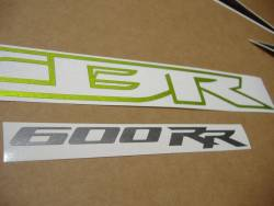 Honda 600RR 2009 green adhesives set