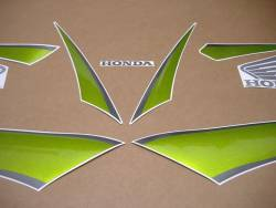 Honda CBR 600RR 2009 green stickers kit