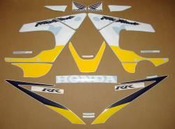 Honda CBR 929RR 2001 Fireblade yellow stickers