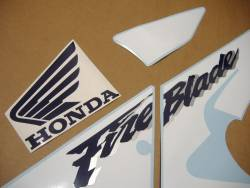 Honda 929RR 2001 SC44 yellow stickers set