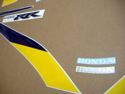 Honda CBR 929RR 2001 yellow stickers kit