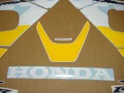 Honda CBR 929RR 2001 Fireblade yellow logo graphics