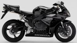 Honda 1000RR 2007 SC57 black complete sticker kit
