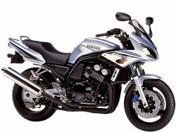 Yamaha FZS 600 2002 silver labels graphics