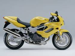 Honda VTR 1000F 1998 yellow stickers kit