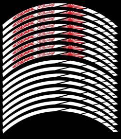 wheel rim stripes decals stickers honda cbr hrc racing